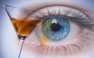 Могут ли от алкоголя болеть глаза