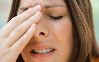 Если болит между глаз и лоб